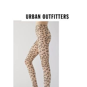 NEW Urban Outfitters Size S/M leopard print sheer
